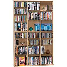 Cd And Dvd Storage Cabinet With Doors Oak Finish Cd Dvd Storage Walmart Com