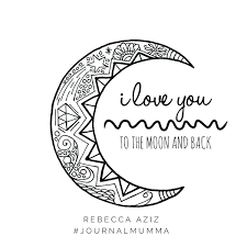coloring page quotes coloring pages love i love you to the moon and back hand drawn