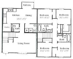 floor plans for 4 bedroom houses floor plans 4 bedroom 3 bedroom 4 bath house plans photo 1 floor