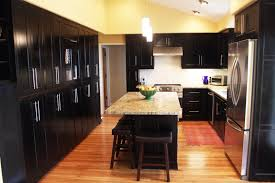 kitchen dark cabinets with dark floors natural home design