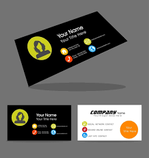 name card design with portrait on contrast background free vector