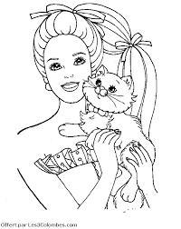 coloriage barbie chat 04 coloriage en ligne gratuit pour enfant