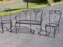 Cast Iron Patio Set Table Chairs Garden Furniture by Furniture Vintage Wrought Iron Lawn Chairs Wrought Iron Patio