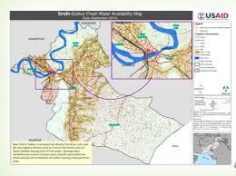 sukkur map pakistan sindh sukkur fresh water availability map september