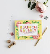 brunch bridal shower invitations citrus brunch bridal shower invitations