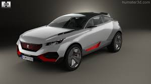 peugeot suv 2015 360 view of peugeot quartz 2015 3d model hum3d store