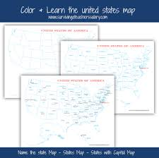 City And State Map Of Usa by Free U S A Map Printables Blank City And States