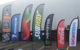 print custom feather convex outdoor flags 14 x 28
