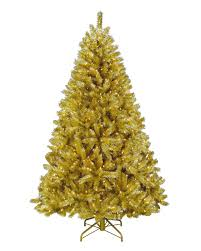 gold christmas toasted chagne gold tinsel artificial christmas tree treetopia