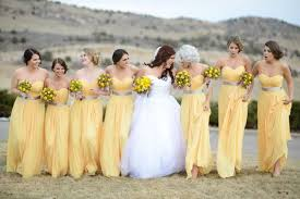 yellow bridesmaid dress picture of beautiful maxi dresses with gray belts