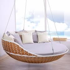 all weather rattan hanging daybed round rattan daybed used outdoor