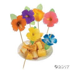 luau straws umbrella straws luau picks tropical food picks