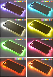 turn light on iphone neon flashing led light up calls phone case cover accessories for
