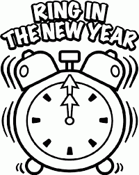 new year u0027s clock coloring page new year u0027s ideas pinterest