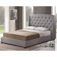 grace grey linen button tufted arched bridge upholstered bed by