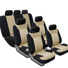 luxury minivan interior 3 row car seat covers luxury for van minivan truck ebay