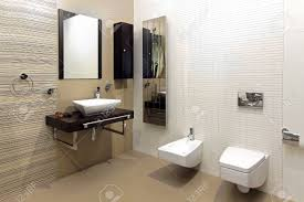 Modern Bathroom Interior With Classic Ceramic Fixtures Stock Photo Ceramic Bathroom Fixtures