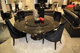small lazy susan for kitchen table a x spiral round black crocodile lacquer table w lazy susan
