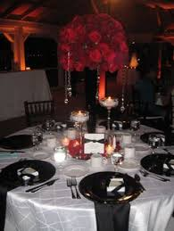 Black And Silver Centerpieces by Party Decor Using Silver Wedding Reception Decoration Wedding