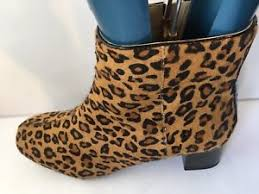 womens boots size 8 clarks chinaberry bay leopard print leather size 8 womens
