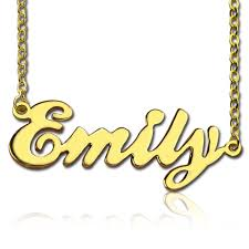 gold necklace with name in cursive cursive script name necklace