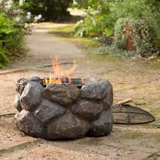 Rock Firepits Faux Rock Pit With Spark Guard The Green