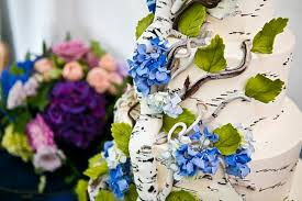 birch bark wedding cake new hampshire mountain wedding wedding