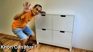 how to assemble ikea stall shoe cabinet with 4 compartments youtube