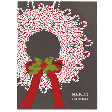 wreath card merry cards smudge