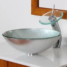 elite 1308 f22tc modern tempered glass bathroom vessel sink with
