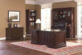 rich cappuccino finish stylish office desk w multiple drawers