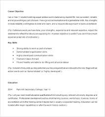 Free Samples Resume by Sample Resume For High Student Template Design