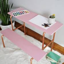 how to make a child s desk learn how to make this adorable copper pipe child s desk wood
