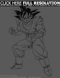 dragon ball coloring pages goku coloring pages 8031