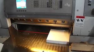 polar 78 programmable paper cutter youtube