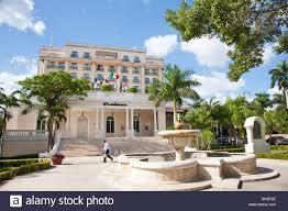 sanborns hotel along paseo montejo merida yucatan mexico stock