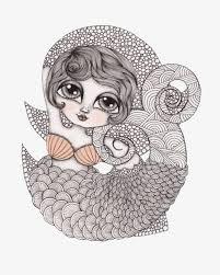imagen blanco y negro en illustrator blanco y negro patrón sirena illustrator blanco y negro patrón