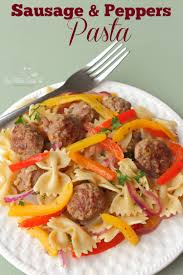 Pasta Sausage Summertime Sausage And Pepper Pasta Recipe As Mom Sees It