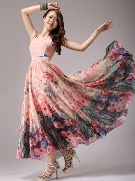 maxi dresses online floral print chiffon maxi dress milanoo