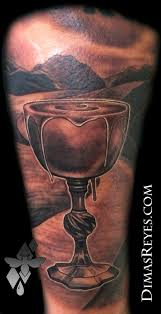 black and grey psalm 23 by dimas reyes tattoos