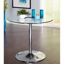 Dining Table Modern by Pisa Round Glass Dining Table Modern Bistro Table Tempered Glass