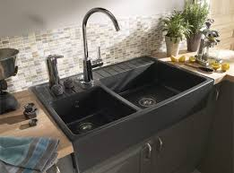 evier cuisine à poser sur meuble evier de cuisine en resine 2 bacs affordable evier cuisine gris