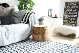 trunk style bedside tables decoration stump coffee table