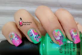 tutorial nail art foil flower nail art with printed transfer foils bombastic nail art