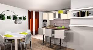 deco cuisine ouverte cuisine avec bar ouvert sur salon collection et decoration salon