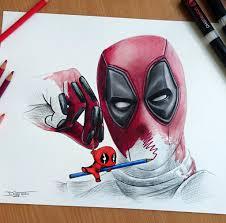 deadpool drawing by atomiccircus on deviantart deadpool