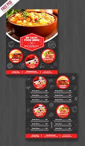 restaurant food menu flyer free psd psdfreebies com
