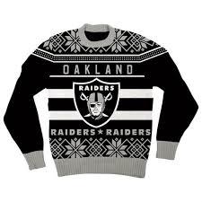 raiders light up christmas sweater tv store rakuten nfl oakland raiders logo black football