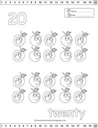 the elegant and stunning number coloring pages 1 20 intended to
