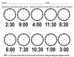 telling time free worksheets free worksheets library download